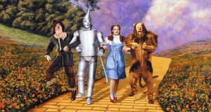 The Wizard Of Oz: is there a more recognisable image in western cinema than Dorothy, the Scarecrow, the Tin Man and the Lion skipping down the yellow brick road? Photograph: Silver Screen/Getty