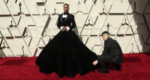 Dude dress:  Billy Porter, in his Christian Siriano tuxedo gown, before this year's Oscars.  Photograph: Josh Haner/NYT