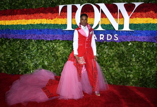 Dude dress: Billy Porter at the Tony Awards in his uterus-inspired suit-gown. Photograph: Angela Weiss/AFP/Getty
