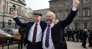 Michael (left) and Danny Healy-Rae outside the Dáil in a file photograph. Photograph: Getty Images