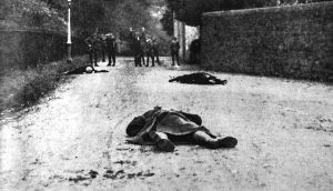 "Fake photo: A ""battle"" in Tralee, in 1920, was restaged on Vico Road, Killiney, Co Dublin, by Dublin Castle press office"
