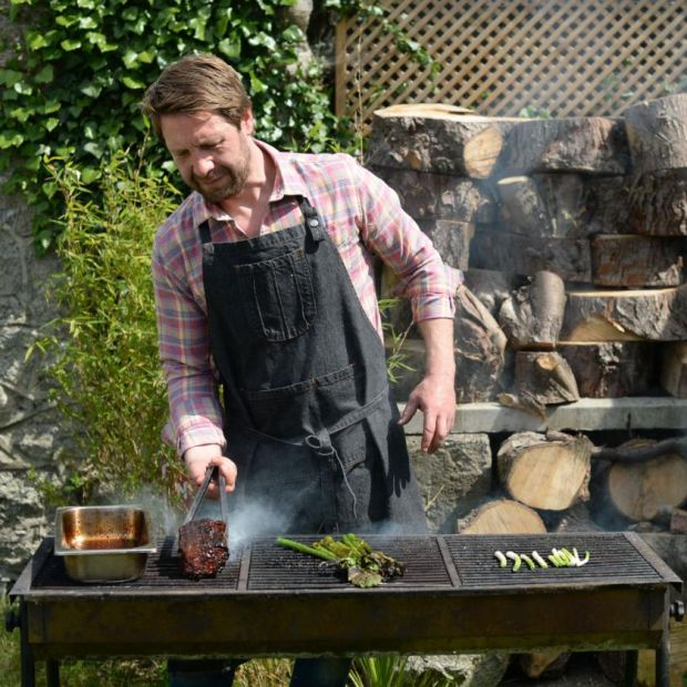 Ian Marconi of Jackrabbit uses wood and charcoal grills. Photograph: Dara Mac Dónaill