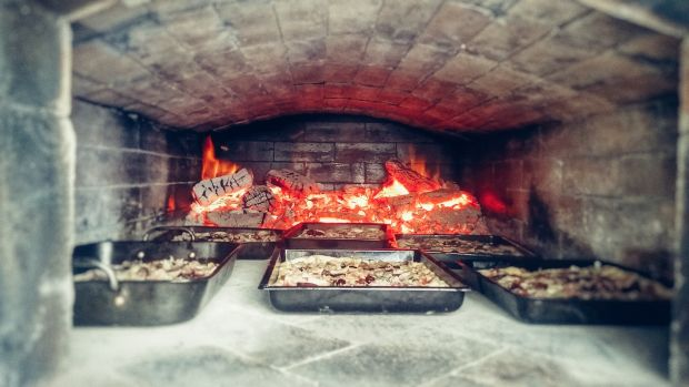 Inside Francis Nesbitt's wood-fired oven