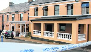 The fire at the Caiseal Mara Hotel in Moville led to longer-than-intended use of emergency accommodatioin. Photograph: North West Newspix