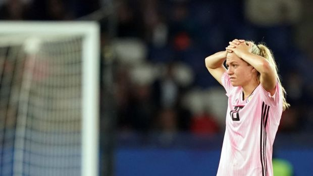 Claire Emslie's Scotland are out after a 3-3 draw with Argentina in Paris. Photograph: Lionel Bonaventure/AFP/Getty