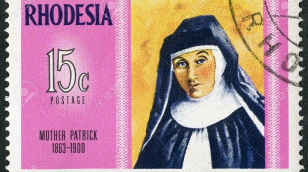 Mother Patrick on a Rhodesia stamp in 1970.