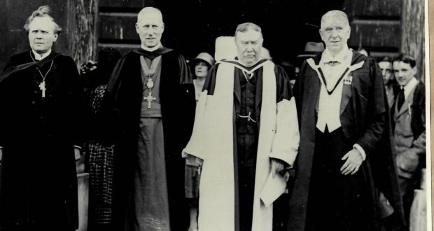 Sir Charles Coghlan third from left receiving an  honorary degree from Trinity 1926.