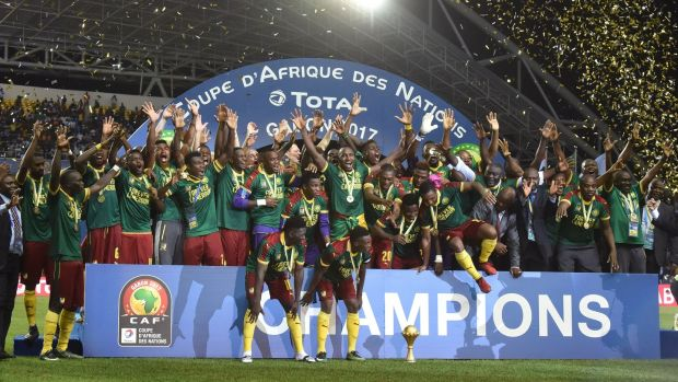 Cameroon are the defending champions after they lifted the trophy for a fifth time in 2017. Photograph: Issouf Sanogo/AFP/Getty
