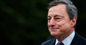 ECB governor Mario Draghi this week sounded a clear alarm bell about the state of the euro zone economy. Photograph: AFP