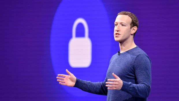 "Facebook CEO Mark Zuckerberg: in the penultimate paragraph of his 2018 New Year missive he said he intended to ""go deeper and study"" encryption and cryptocurrency. Photograph: Getty Images"