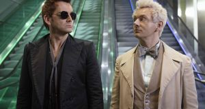 David Tennant as Crowley and Michael Sheen as Aziraphale  in Good Omens
