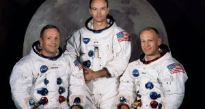 The official crew portrait of the Apollo 11 astronauts:  Neil Armstrong (left), Michael Collins, and Buzz Aldrin. Photograph: Nasa