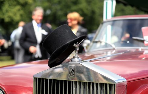 DROP OF A HAT: A top hat rests on a Rolls Royce during day three of Royal Ascot at Ascot Racecourse. Photograph: Mike Egerton/PA Wire