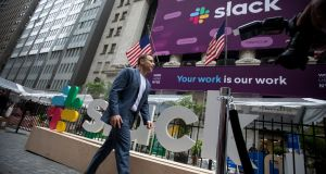Stewart Butterfield, ceo of Slack Technologies, said the company had been hoping to avoid a high premium, which often reflects the scarcity of shares available to investors in a traditional IPO. Photograph: Michael Nagle/Bloomberg