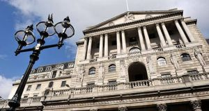 The Bank of England trimmed its expectations for second-quarter growth, predicting GDP will remain flat against a previous forecast for 0.2%  expansion.  Photograph: Getty Images
