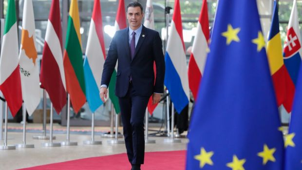Spain's prime minister Pedro Sanchez was among those at the summit in Brussels on June 20th.Photograph: Stephanie Lecocq