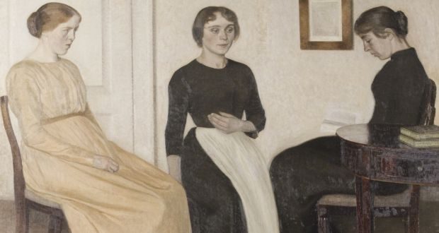 Vilhelm Hammershøi's Three Young Women (1895).