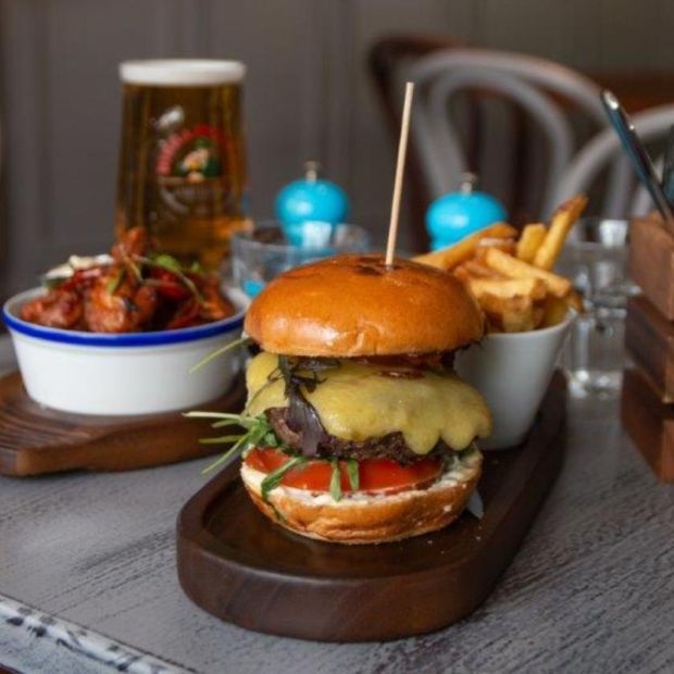 The Donnybrook: the burger at Oliver Dunne's new gastropub has Gruyère cheese, truffle mayo, red-onion ketchup, rocket salad and fries