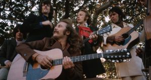 Crosby, Stills, Nash, and Young:  romantic lyrics and penchant for political protest galvanised a devoted following. Photograph:  Henry Diltz/Corbis