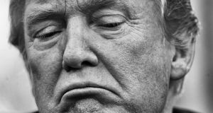 In black and white: 'I do not think an idea has ever crossed Donald Trump's mind. This is elemental,' Michael Wolff says. Photograph: Doug Mills/New York Times