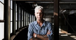 Anthony Bourdain in New York, September 2015. The chef and food writer died one year ago this month. Photograph: Alex Welsh/The New York Times