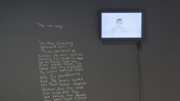Anita Groener, Moments: They were smiling. The Past is a Foreign Country, installation view, The Lab. Photograph: Louis Haugh