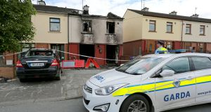 A house was burned out in Drogheda's Moneymore during an arson attack. Photograph: Crispin Rodwell