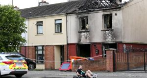 A house  in Drogheda's Moneymore estate was petrol-bombed  in relation to the Drogheda feud. Photograph:  Crispin Rodwell