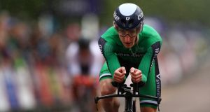 Eddie Dunbar remains second overall in the La Route Occitanie in France. Photograph:  Dan Istitene/Getty Images