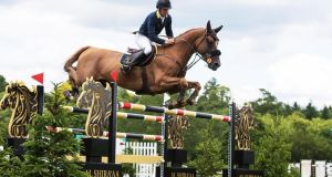 Shane Breen came out on top in Friday's Bunn Leisure Derby Trial at Hickstead with Golden Hawk. Photograph: Hickstead