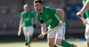 Shane O'Donoghue scored his 102nd international goal in the win over Korea. Photograph: Laszlo Geczo/Inpho