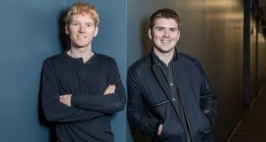 Stripe founders Patrick and John Collison, who are reported to have made a healthy return on their stake in Slack