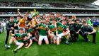 The Kerry  team celebrate winning the Munster minor football championship at  Páirc Uí Chaoimh. Photograph: James Crombie/Inpho