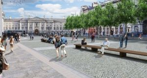 A architect's image of the proposed College Green plaza.