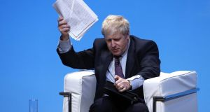Boris Johnson: his contrived bluster concealed a man who was fantastically well prepared. Photograph: Darren Staples/Bloomberg