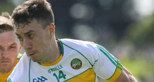 Niall McNamee scored two goals as Offaly eased past Sligo. Photograph: Lorraine O'Sullivan/Inpho