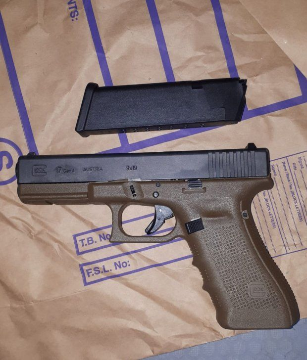 One of the guns seized by gardaí in Dublin on Sunday. Photograph: Garda Press Office