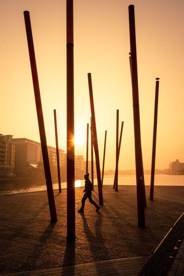 Summer Pix 2019: sunrise on Grand Canal Dock, in Dublin. Photograph: Mike Brosnan