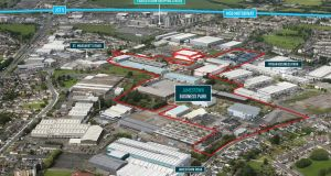Jamestown Business Park in Dublin is accessed via St Margaret's Road at its western apex  while alternative access is afforded via Jamestown Road at its eastern end, just north of Finglas village