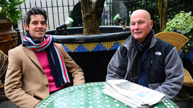 Fr Bernard Lynch (right) and his husband Billy Desmond (left) in 2012. Photograph: Eric Luke /The Irish Times