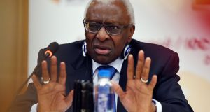Former (IAAF president Lamine Diack has been under house arrest in France since  2015.