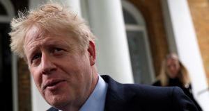 Boris Johnson: admitted he would need an agreement with the EU  to avoid a hard Border. Photograph: Reuters