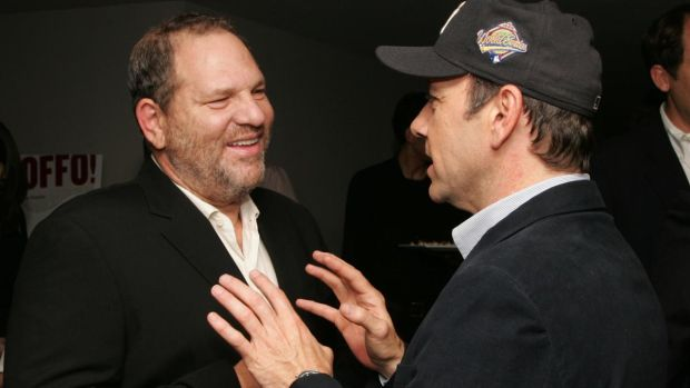 Harvey Weinstein and Kevin Spacey in 2006: the film producer and actor have both been accused of misconduct. Photograph: Peter Kramer/Getty