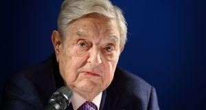 George Soros is among more than a dozen prominent US billionaires are calling for a new government tax on extreme wealth to help combat income inequality. Photograph:  Fabrice Coffrini / AFP/Getty Images