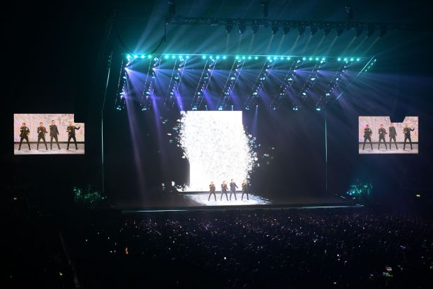 Westlife at the SSE Arena. Photograph: Arthur Allison/Pacemaker