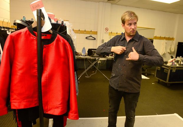 Kian Egan in the costume room. Photograph: Arthur Allison/Pacemaker