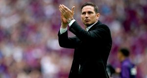 Frank Lampard is the overwhelming favourite to take over as Chelsea manager. Photograph: John Walton/PA Wire.
