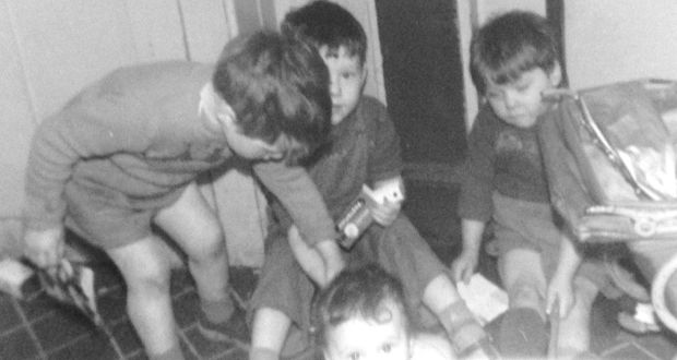 Ian Duhig with brothers Kevin (left) and Adrian and sister Geraldine in about 1962