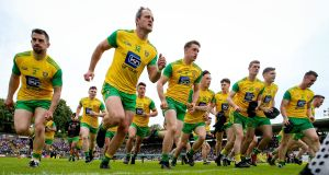 Donegal: They're the great white hope all of a sudden, the only ones who can save us from the five-in-a-row for Dublin – if one is to gauge by the reaction to their Ulster championship triumph.  Photograph: Tommy Dickson/Inpho
