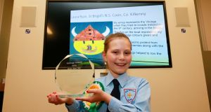 Laura Ryan of St Brigid's National School, Coon, Co Kilkenny was the overall national winner of the competition. Photograph: Nick Bradshaw